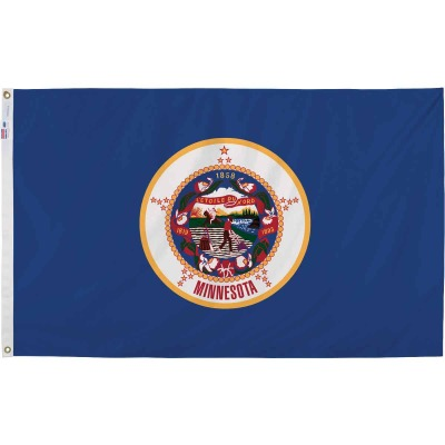 Valley Forge 3 Ft. x 5 Ft. Nylon Minnesota State Flag