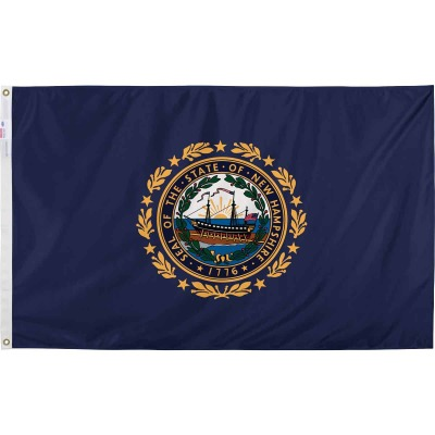 Valley Forge 3 Ft. x 5 Ft. Nylon New Hampshire State Flag