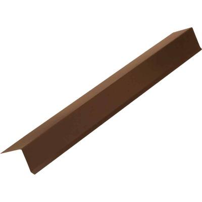 NorWesco G Galvanized Steel Drip Cap Flashing, Brown
