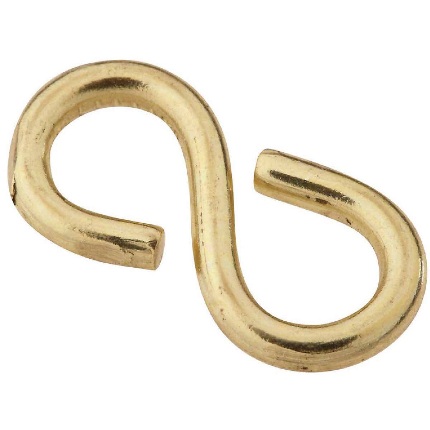 National 7/8 In. Brass Light Closed S Hook (3 Ct.) Image 1