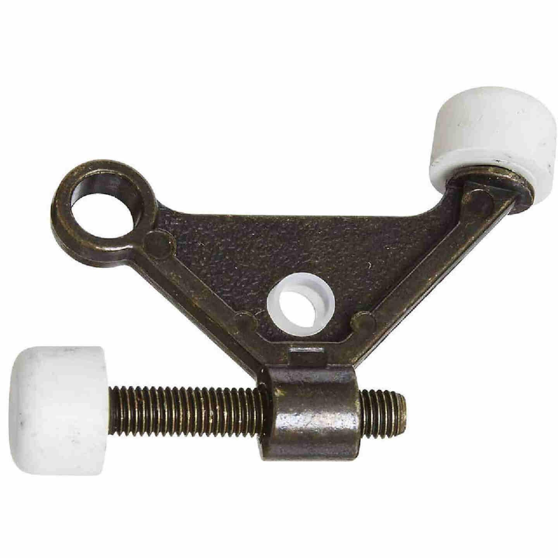 National Antique Brass Zinc Hinge Pin Door Stop Image 1