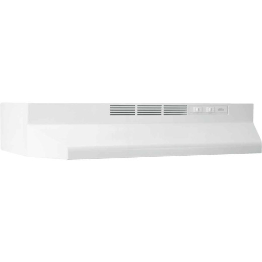Broan-Nutone 41000 Series 24 In. Non-Ducted White Range Hood