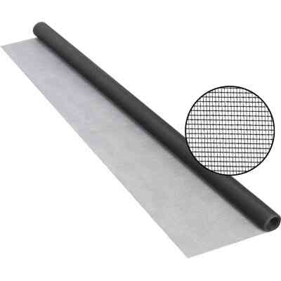Phifer 24 In. x 84 In. Charcoal Fiberglass Screen Cloth Ready Rolls