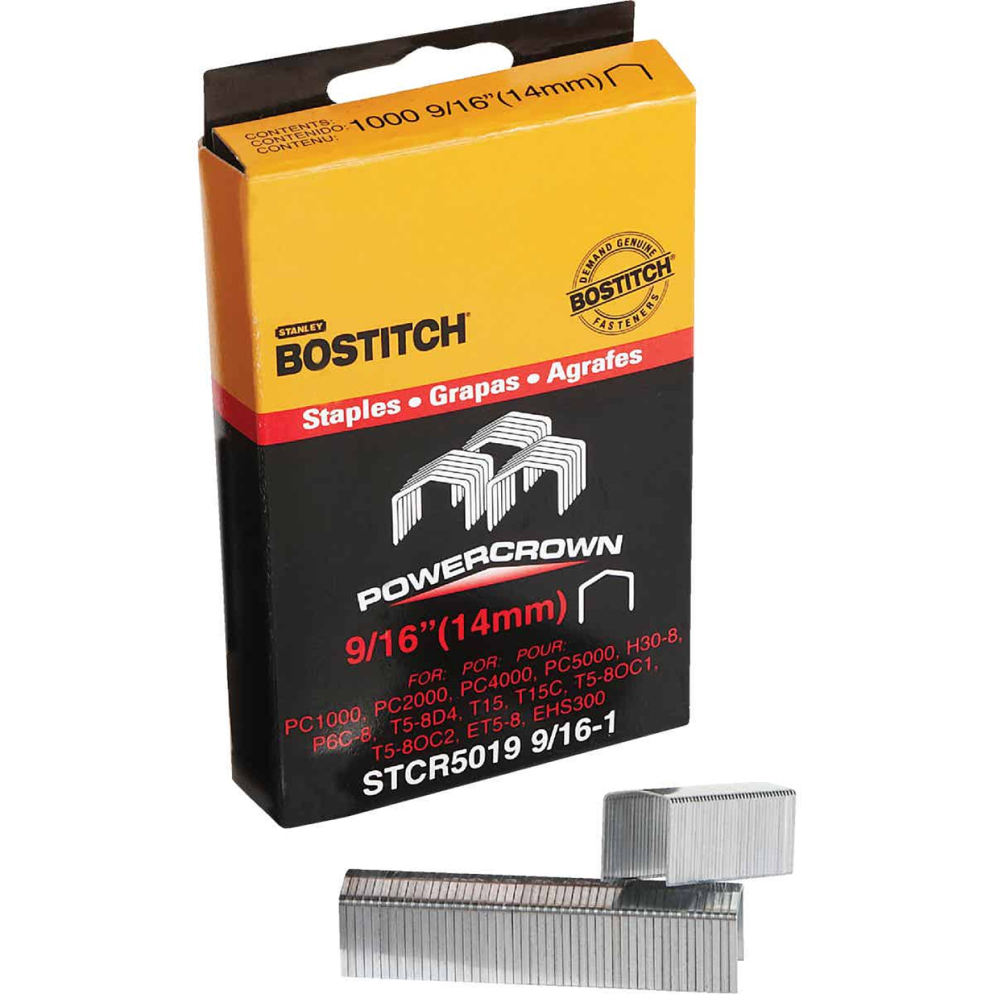 Bostitch Powercrown Hammer Tacker Staple, 9/16 In. (1000-Pack) Image 1