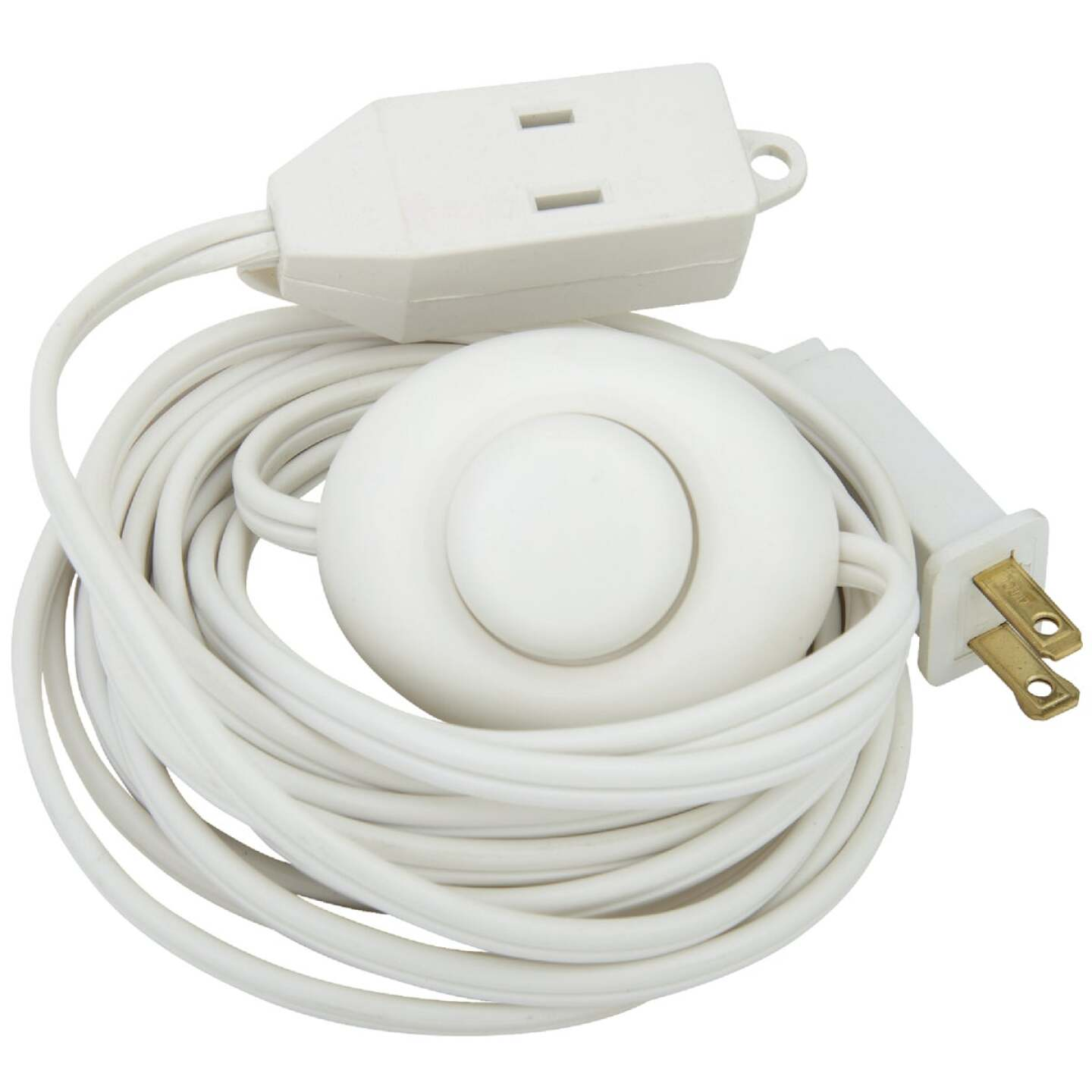 Do it 15 Ft. 18/2 White Extension Cord with Foot Switch Image 4