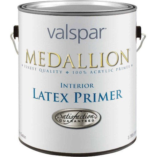 Valspar Medallion Interior Latex Primer, White, 1 Gal.