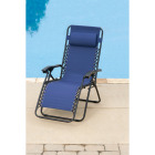 Outdoor Expressions Zero Gravity Relaxer Blue Convertible Lounge Chair Image 3